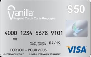 Prepaid Vanilla Visa Card