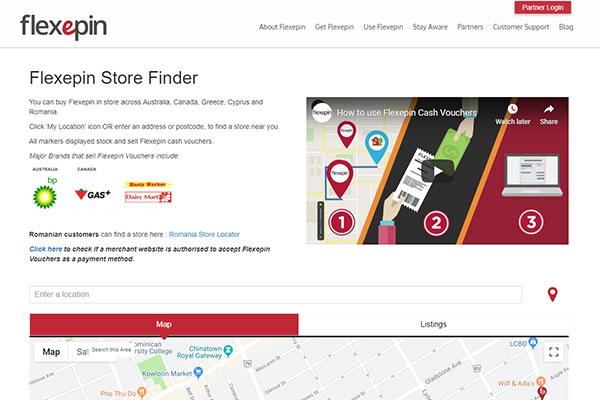 Flexepin store finder
