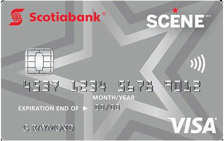Scotiabank Visa Scene card