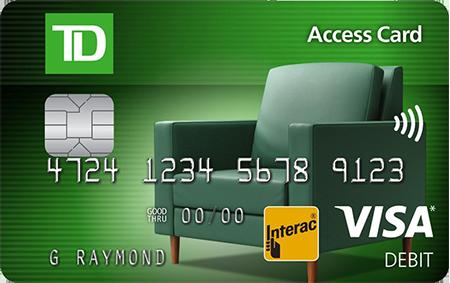 TD Canada Trust Visa Debit Card