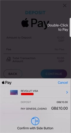 Apple Pay confirm pay screen